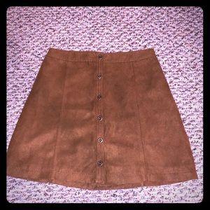 Trendy brown suede Hollister skirt
